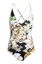 Printed swimsuit - Black/Tiger - Ladies | H&M CN 2