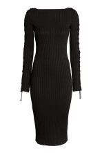 Dress with lacing - Black - Ladies | H&M CN 2
