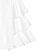 Top with tiered sleeves - White - Ladies | H&M GB 3