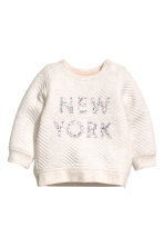 Quilted sweatshirt - Light powder marl -  | H&M 1