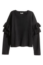 Jumper with frills - Black - Ladies | H&M 2