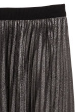 H&M+ Pleated skirt - Black/Glitter - Ladies | H&M CN 3