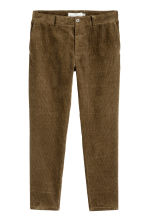 Corduroy trousers - Dark Khaki - Men | H&M 2