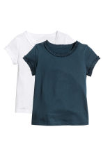 2-pack short-sleeved tops - Dark blue -  | H&M 2