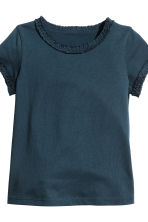 2-pack short-sleeved tops - Dark blue -  | H&M 4