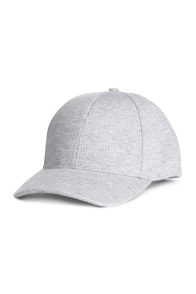 Jersey cap - Light grey marl - Men | H&M