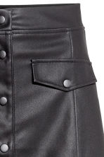 Imitation leather skirt - Black - Ladies | H&M 3