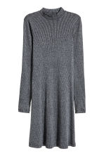 Ribbed jersey dress - Dark grey marl - Ladies | H&M CN 2