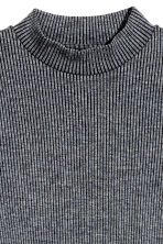 Ribbed jersey dress - Dark grey marl - Ladies | H&M CN 3