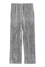 Pleated trousers - Grey marl -  | H&M GB 2