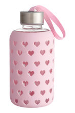 Water bottle - Light pink/Heart - Ladies | H&M CN 1
