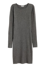Ribbed jersey dress - Dark grey marl -  | H&M 2