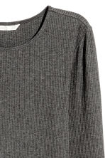 Ribbed jersey dress - Dark grey marl -  | H&M 3