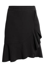 Flounced skirt - Black -  | H&M CA 2