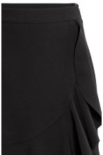 Flounced skirt - Black -  | H&M CA 3