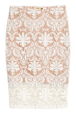Patterned mesh skirt - Natural white - Ladies | H&M 2