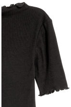 Ribbed top - Black -  | H&M 3