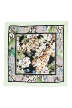 Patterned silk scarf - Purple/Tigers - Ladies | H&M 2