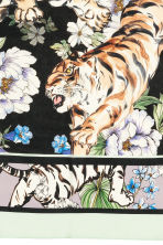 Patterned silk scarf - Purple/Tigers - Ladies | H&M CN 3