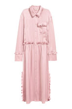 Shirt dress with frills - Light pink - Ladies | H&M CN 2