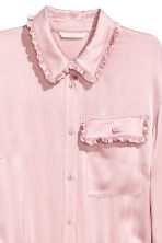 Shirt dress with frills - Light pink - Ladies | H&M CN 4