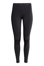 Jersey leggings with a sheen - Black - Ladies | H&M CA 3