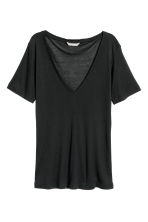 Top in misto seta - Nero -  | H&M IT 2