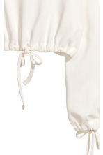 Short drawstring sweatshirt - Natural white - Ladies | H&M 3