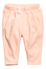 Velour trousers - Powder pink - Kids | H&M 1