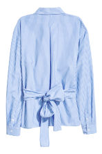 Cotton blouse - Blue/White/Striped - Ladies | H&M 3
