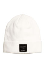 Knitted hat - White - Men | H&M CN 1