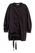 Sweatshirt with a drawstring - Black - Ladies | H&M 2