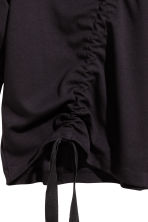 Sweatshirt with a drawstring - Black - Ladies | H&M 3