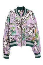 Quilted bomber jacket - Purple/Tigers - Ladies | H&M 2