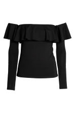 Off-the-shoulder top - Black -  | H&M 2