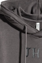 Hooded sweatshirt dress - Dark grey - Ladies | H&M 4