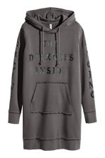 Hooded sweatshirt dress - Dark grey - Ladies | H&M 2