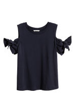 Tricot top - Donkerblauw - DAMES | H&M BE 2