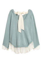Jumper with lace trims - Dusky green - Ladies | H&M 3