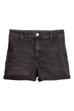 Shorts High waist - Dark grey denim - Ladies | H&M CA 2