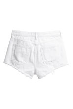 Denim shorts Skinny Regular - White denim - Ladies | H&M 3