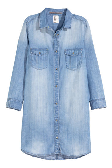 Long shirt - Denim blue - Ladies | H&M GB 1