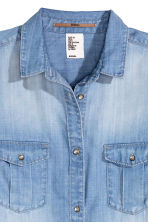 Long shirt - Denim blue - Ladies | H&M GB 2