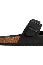 Footbed slide sandals - Black - Men | H&M CN 4