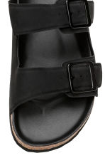 Footbed slide sandals - Black - Men | H&M CN 3