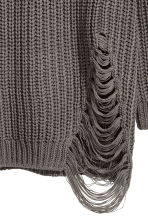 Rib-knit jumper - Dark grey - Ladies | H&M 3