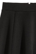 Circular skirt - Black/Ribbed - Ladies | H&M 3
