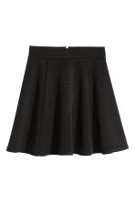 Circular skirt - Black/Ribbed - Ladies | H&M 2