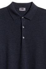 Merino wool polo shirt - Dark blue - Men | H&M CN 2