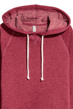 Cropped hooded top - Dark red - Ladies | H&M CN 2